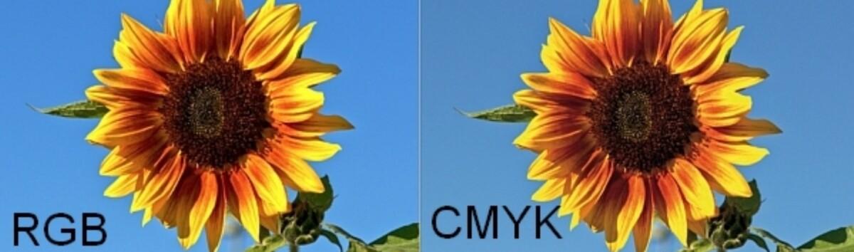 Vergleich CMYK und RGB