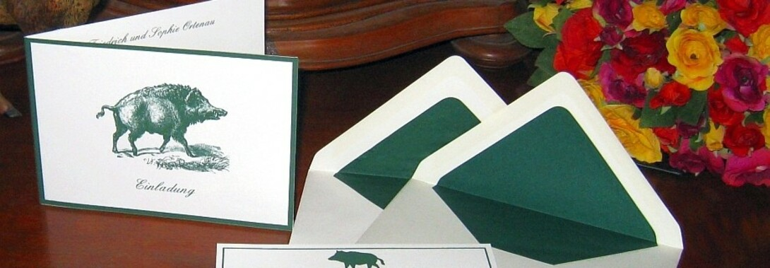 Druckateur - Einladungskarten zur Jagd als Jagdeinladung selbst gestalten in der Online Druckerei